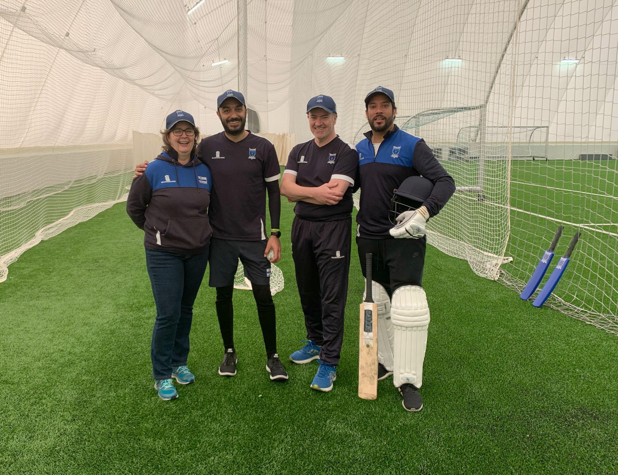 Maija Scamans, Amjad Sher, Andrew Armitage ja Van Padhaal_Krikettiliitto